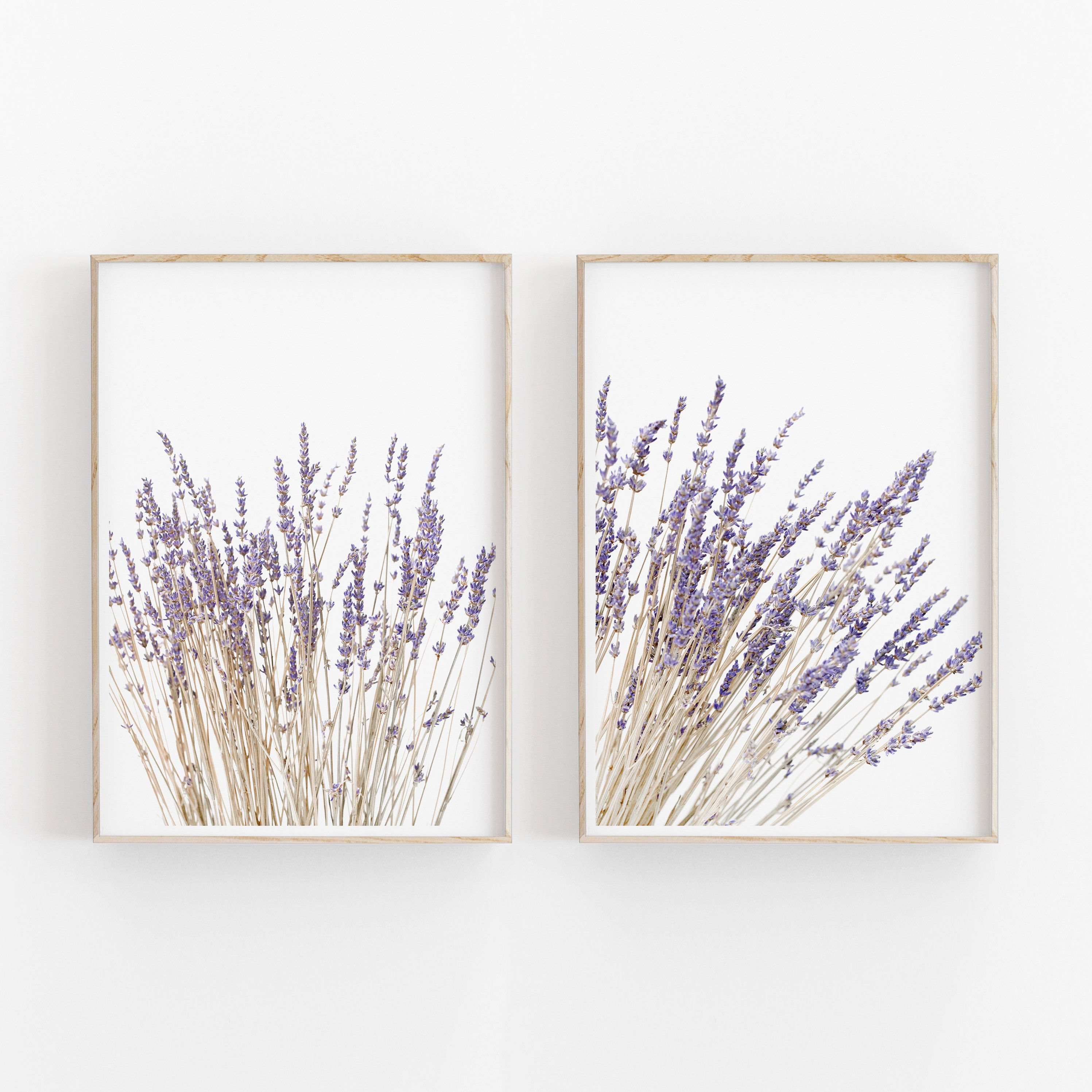 Lavender Set Of 2 Print Lavender Wall Art Kitchen Herbs Etsy In 2020 Lavender Walls Instant Art Prints