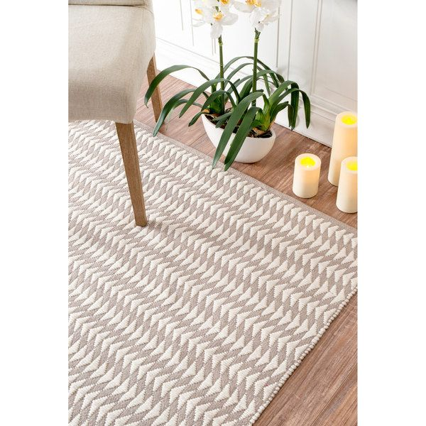 nuLOOM Handmade Modern Textured Ridges Ivory Rug (5' x 8') - 18310109 - Overstock.com Shopping - Great Deals on Nuloom 5x8 - 6x9 Rugs