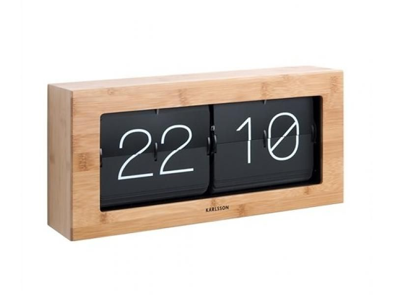 Karlsson Flip Klok : Flip klok boxed xl bamboo clocks