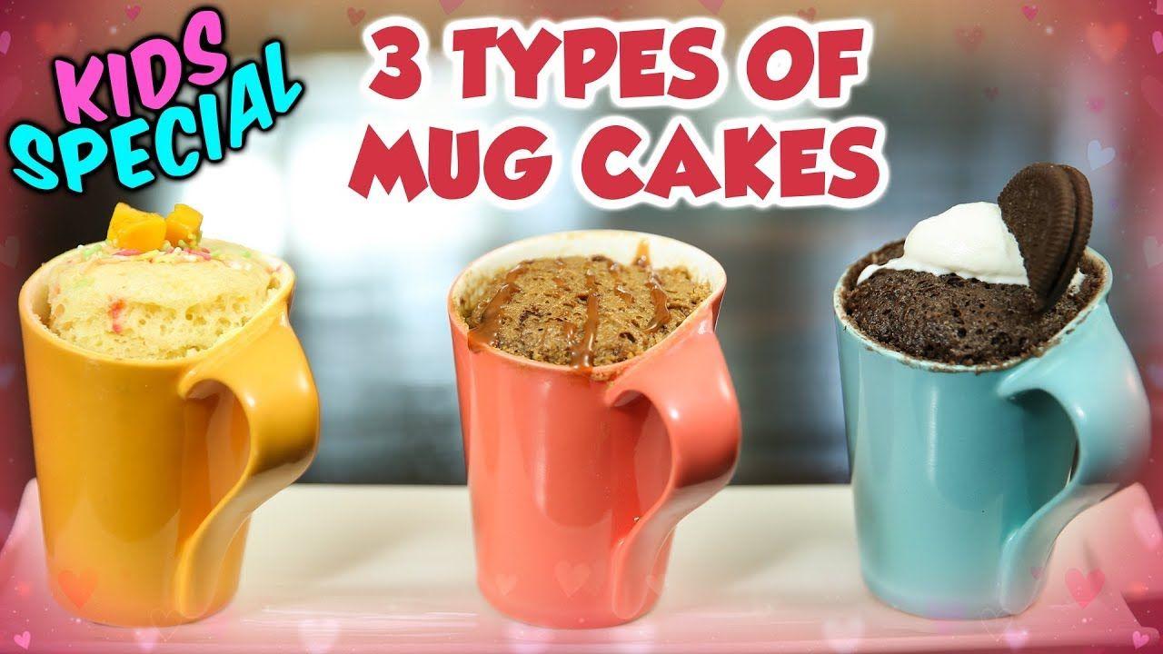 Mug Cakes Recipe - 3 Types | How To Make Mug Cakes At Home | Kids Special Recipe | Ruchi Bharani