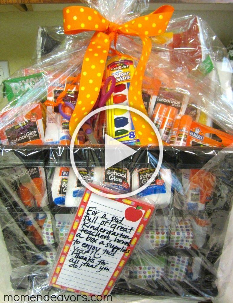 School Supply Gift Basket…so cute for ur kids teachers