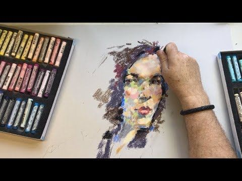 Pastel Portrait - Sketching with Sheldon #009 - YouTube