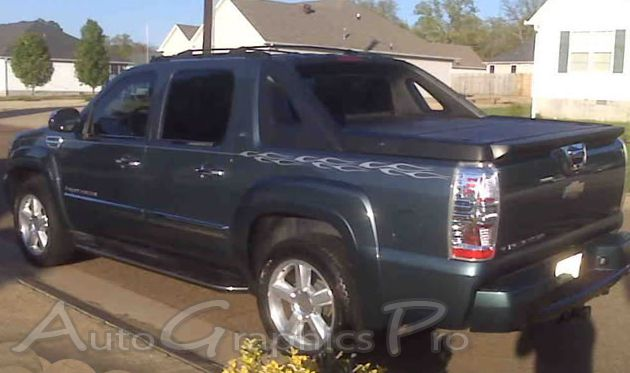 Chevy Avalanche Decals Pyro Flame Stripes And Pin Striping Vinyl Graphics Chevy Avalanche Chevy Vinyl Graphics