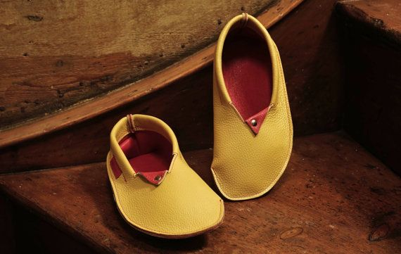 Wigwams Leather Slippers House Shoes In Pale Yellow By Fhleather