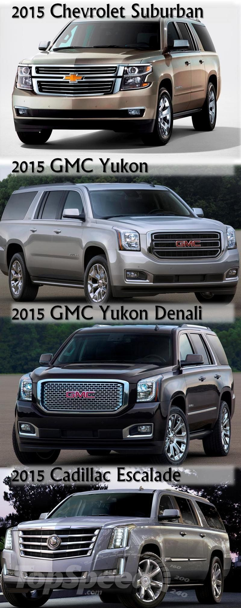 2015 Gmc Yukon Xl Vs Suburban Vs Denali Vs Escalade Gmc Yukon Xl