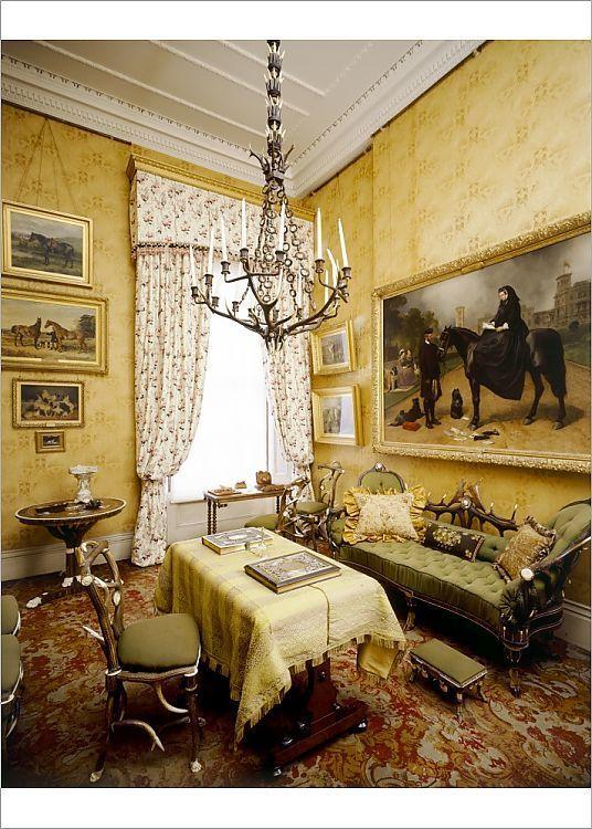 Print Of Horn Room Osborne House J070028 In 2020 Classic Living Room House Interior Decor House