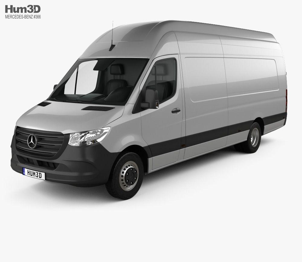3d Model Of Mercedes Benz Sprinter Panel Van L4h3 2019 Benz
