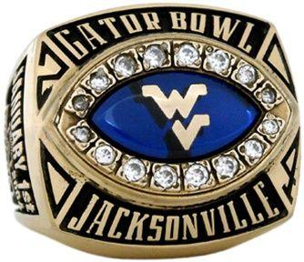West Virginia Mountaineer 2004 Gator Bowl Champion Gator Bowl Championship Rings Bowl