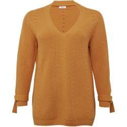 Photo of Large sizes: wool sweater chunky pattern mix, honey, size 44/46 Sheego