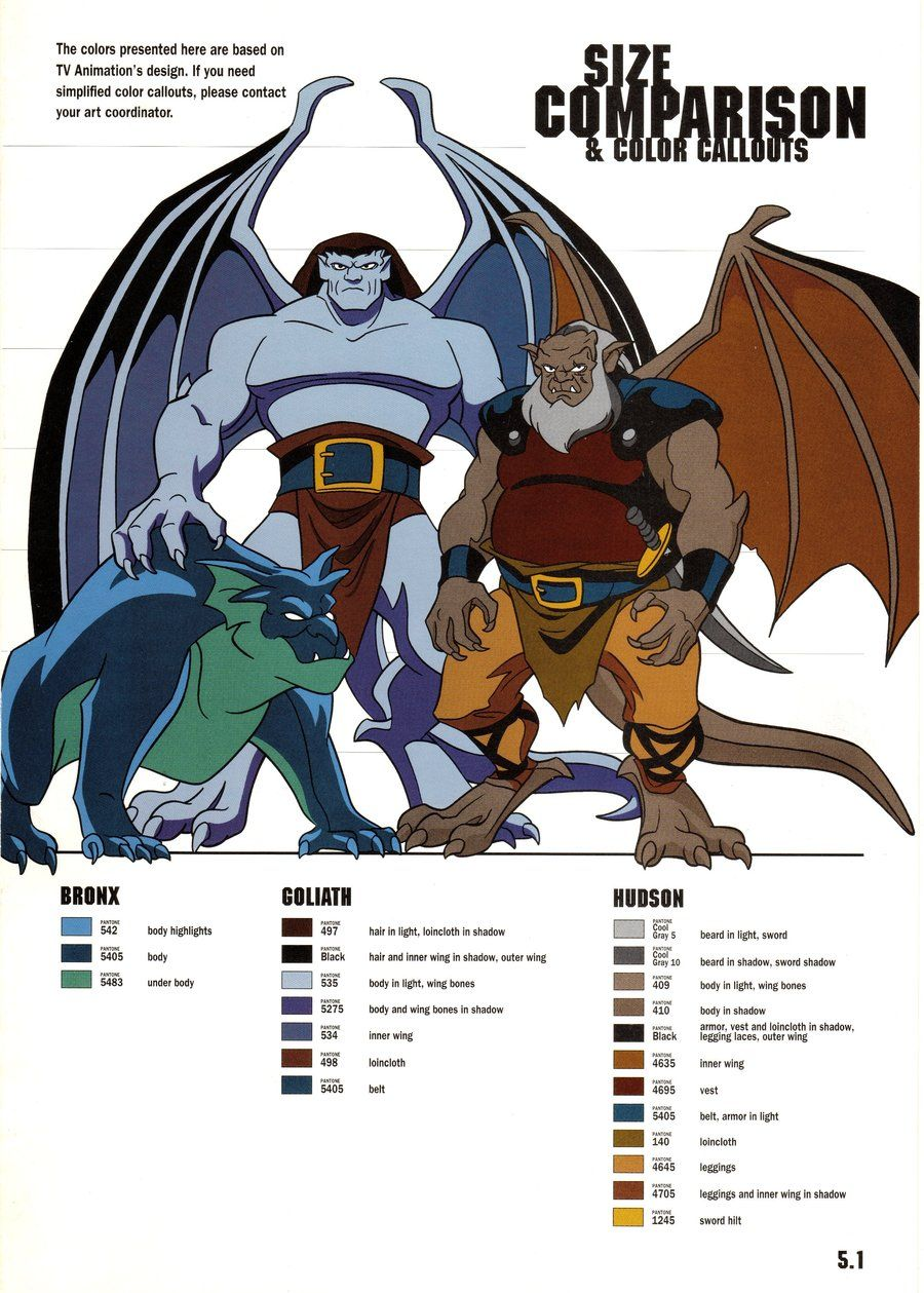 gargoyles characters coloring pages - photo#33