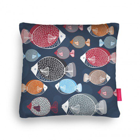 Swim School Cushion - ohh deer Pillow Fight Compeition by Mel Armstrong