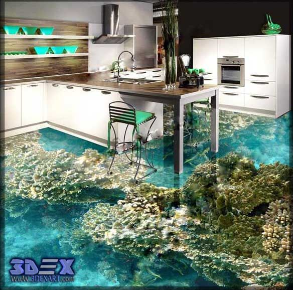 3d Flooring For Kitchen Epoxy Floors Designs How To Make 3D And Floor Art Design All Secrets On Install Self Leveling
