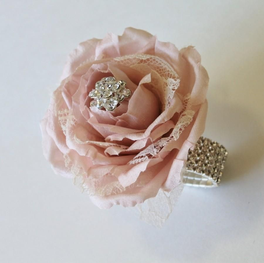Wrist Corsage Blush Wedding Mothers Silk