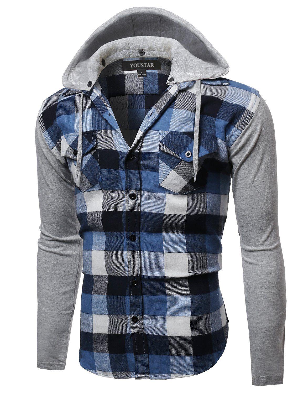Robot Check Mens Plaid Flannel Shirt Long Sleeve Shirt Men Mens Outfits [ 1500 x 1154 Pixel ]