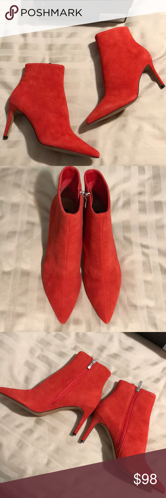 68c15d64a Steven by Steve Madden Logic Booties BNWB! Steven by Steve Madden red suede  Logic booties. Also have the white leather ones for sale.