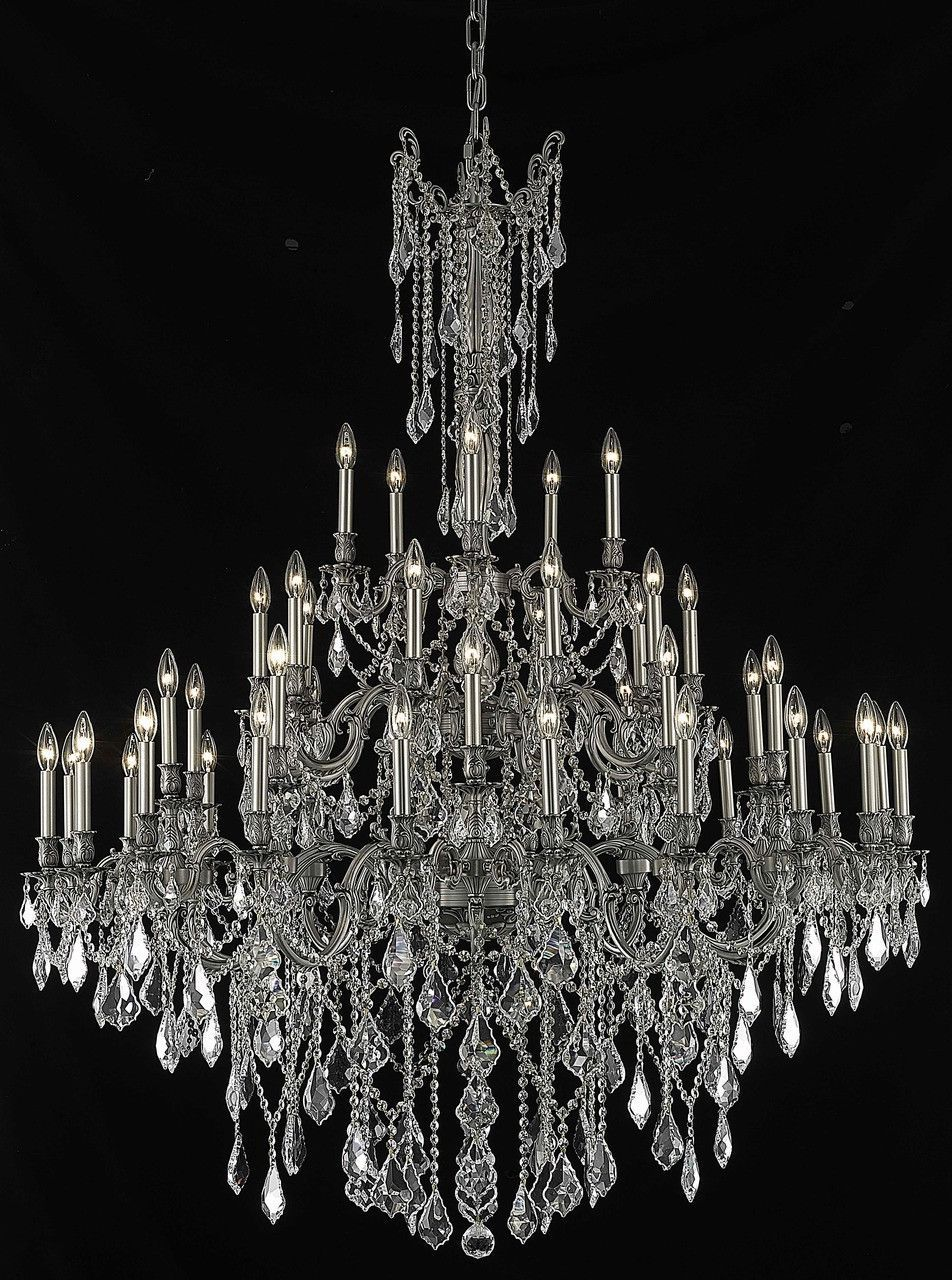 Rosalia 45 Light Crystal (Clear) Chandelier in Pewter Finish 9245G54PW/RC