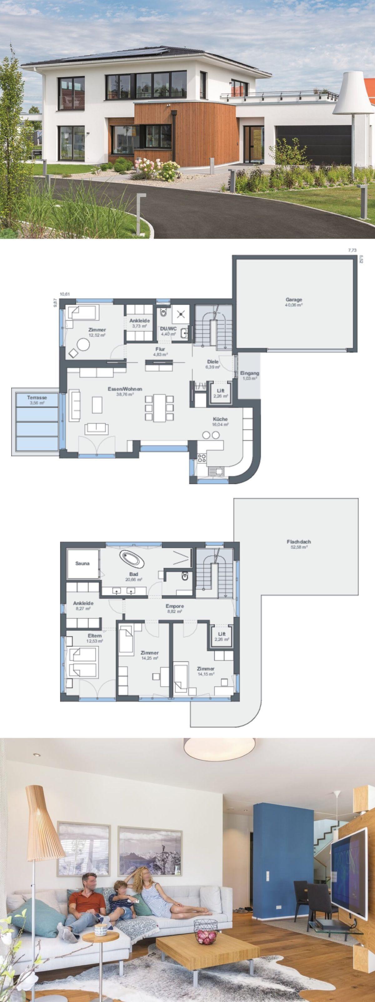 Elegante Stadtvilla modern mit Garage & Walmdach Architektur - Haus ...