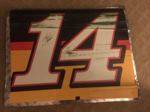 Stewart-Haas-Racing-Tony-Stewart-Autographed-Sheet-Metal