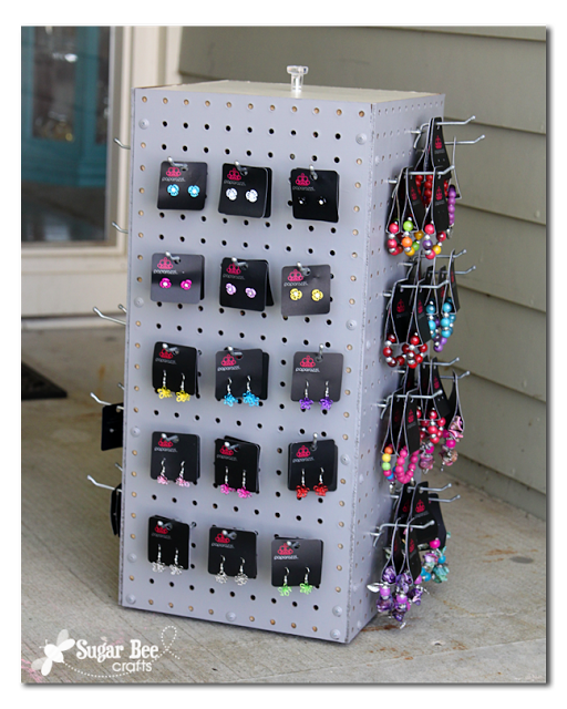 Diy Rotating Display Rack How To Make A Pegboard Spinning