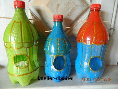 Maison pour oiseau avec bouteille plastique bricolages enfants bouteille plastique maison - Site de bricolage maison ...