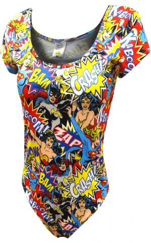 DC Comics Lady Heroes Bam Crash Bodysuit