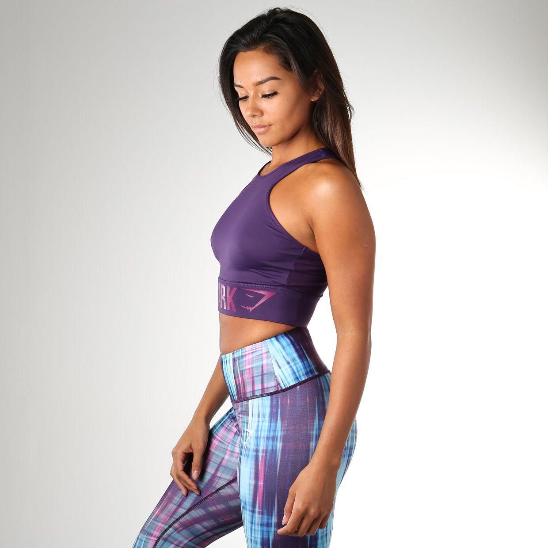 Gymshark Serene Sports Crop Top Blackberry Workout