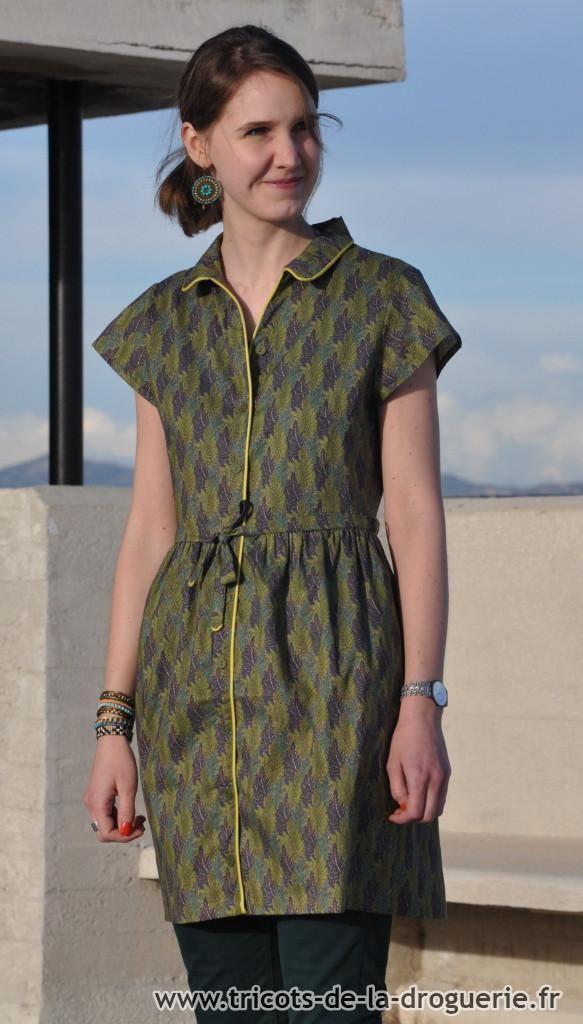 3feac322fef La robe « Le Croisic » (photographiée sur le toit-terrasse du Corbusier à  Marseille !)  ladroguerie  couture