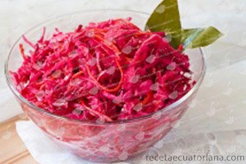 Ensalada de Col Morada  Receta Ecuatoriana  comida ecuatoriana  Ensalada de col morada Col morada y Ensalada de col