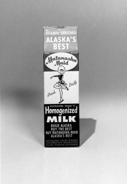 '60s matanuska maid milk carton with original skater logo. i want to find one of these cartons to frame.