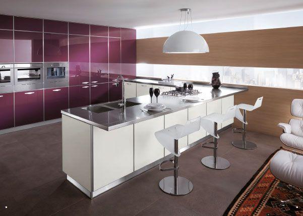 Inspiring Minimalist Italian Kitchen Design Featured Purple Fair Italian Design Kitchen Decorating Design
