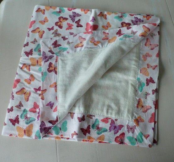 A Self Binding Receiving Blanket (as Per Jenny Doan Of