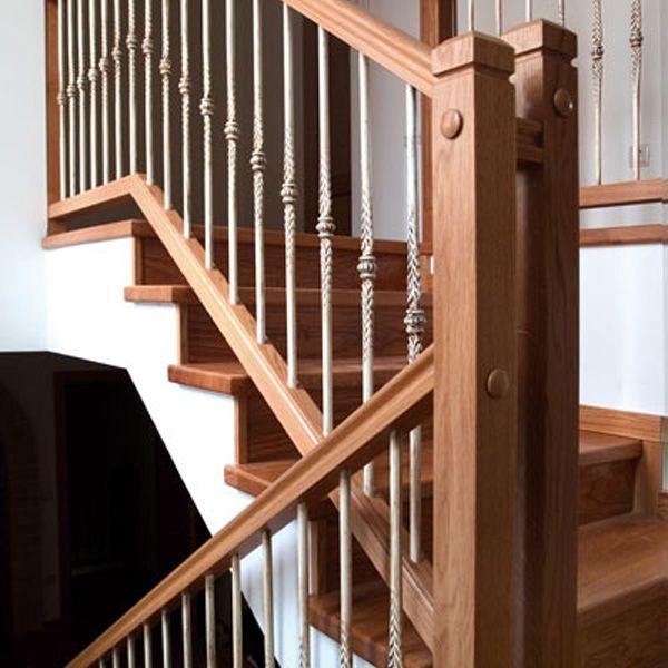 Barandilla de madera forja y hierro forja14 chuchos - Escaleras de hierro forjado ...