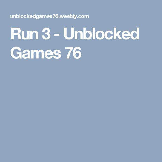 run 3 unblocked games