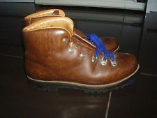 vintage leather walking boots 47 uk13 made in italy vibram montagnablock viberg
