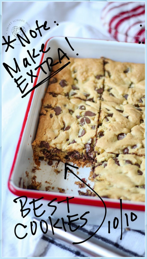 Lazy Chocolate Chip Cookie Bars - Uncategorized #Bars #Chip #Chocolate #Cookie #earth day #easter #f...