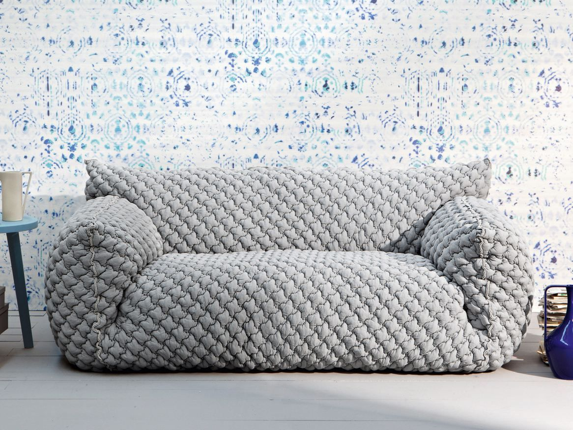 3 seater sofa NUVOLA 10 By Gervasoni design Paola Navone | Contemporary sofa design, Quilted sofa, Sofa design