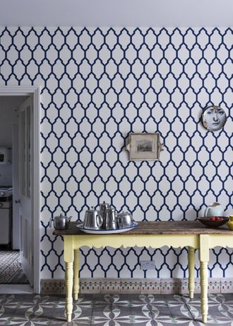 Tangletree interiors. A lot of wallpaper selections