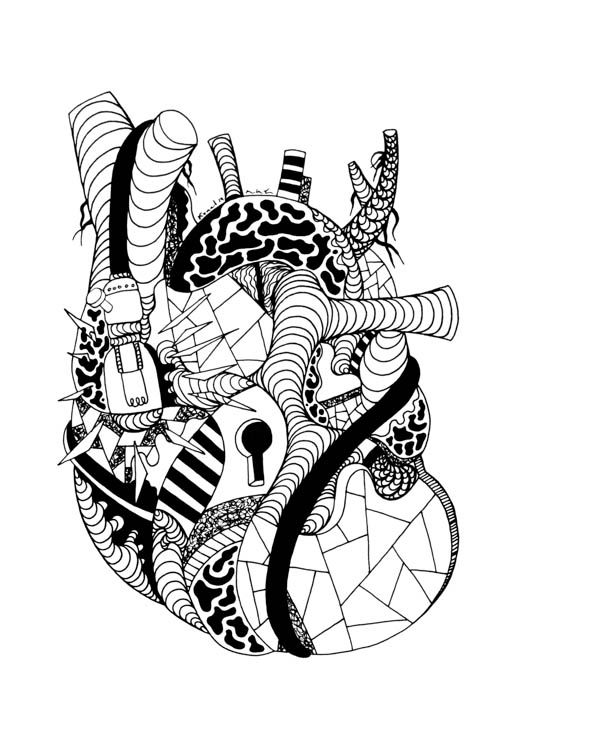 Human Heart Drawing The Most Beautiful Hearts That Will Inspire You Anatomical Heart Drawing Heart Coloring Pages Heart Drawing