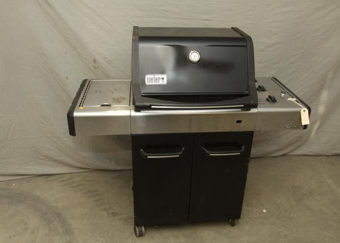 Weber spirit three burner grill with side burner and two doors with ...