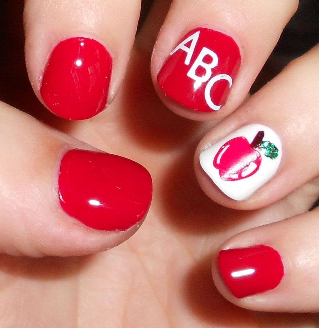 School nail art - She Who Does Nails: Back To School - Indoor With Flash -- Jess