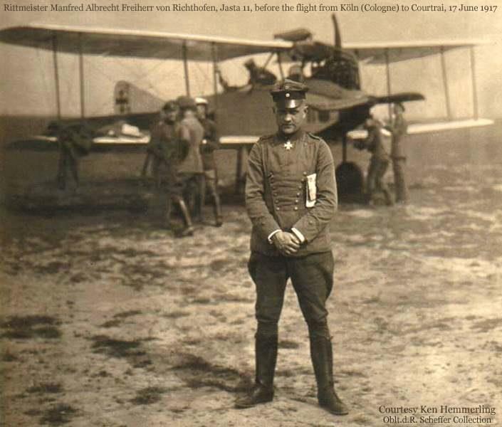 """17 septembre 1916 Le """"Baron rouge"""" engage son premier combat"""