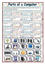 Worksheets Computer Technology Worksheets english worksheet technology parts of a computer digital computer