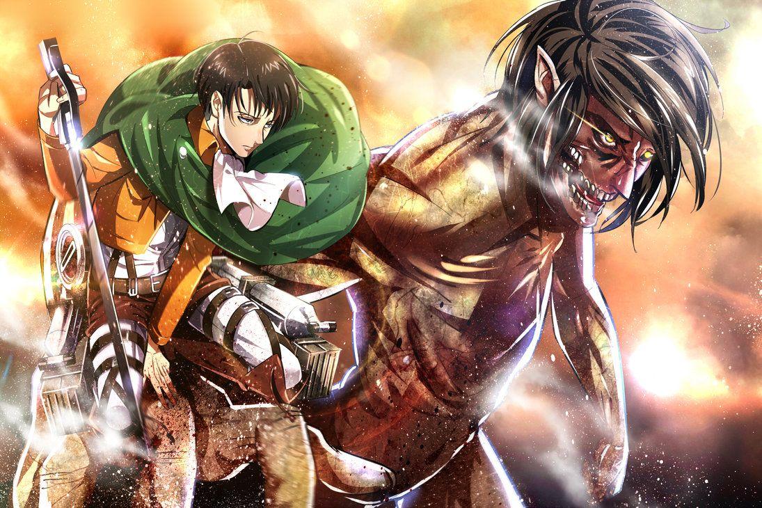 Attack on Titan ~~ Levi atop Eren in Titan Form :: [ Shingeki no Kyojin by sloyuna on deviantART ]