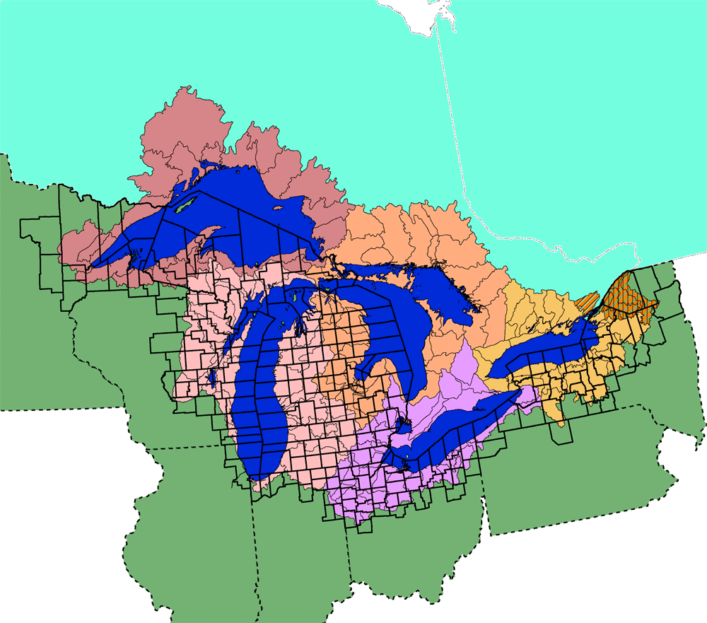 Basic Information Great Lakes US EPA Environment Geo - Map of lakes in the us