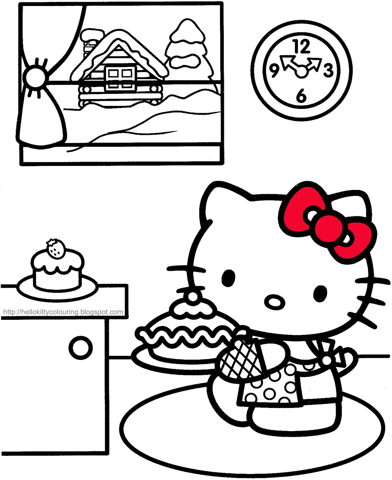 Sanrio Hello Kitty M And Coloring Pages
