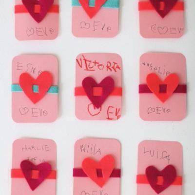 felt bracelet valentine cards homemade valentines cards - Home Made Valentines