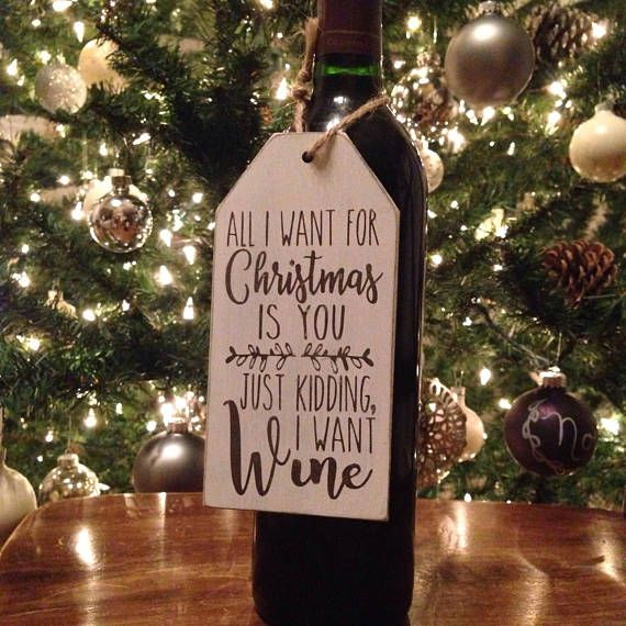 All I Want For Christmas Is Wine Instant Digital Download Etsy Wine Gift Tags Wine Gifts Digital Download Etsy