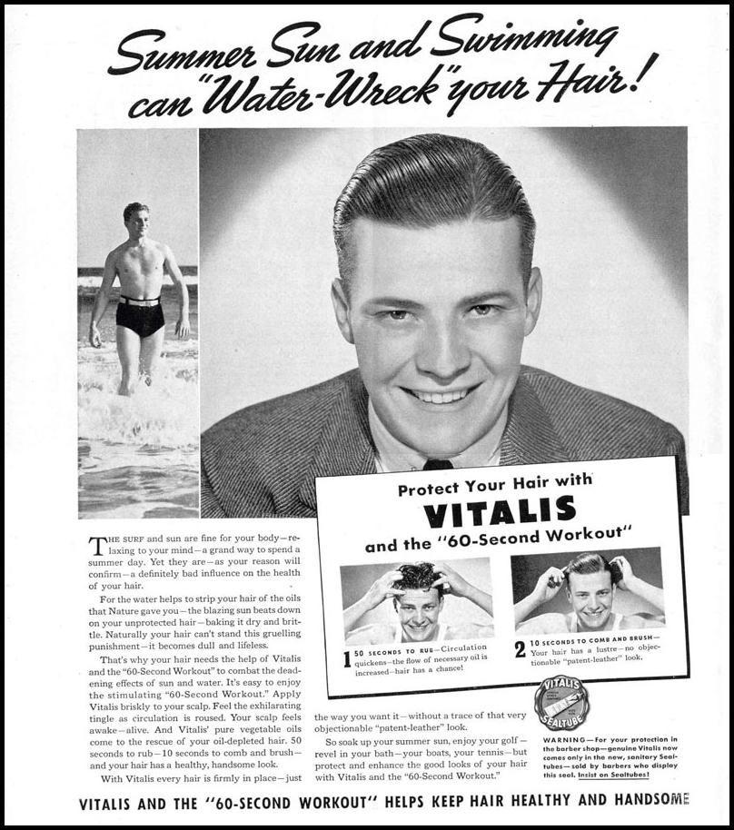 vitalis hair tonic vintage vitalis hair tonic life 09 06 1937 p 18 1930 s man