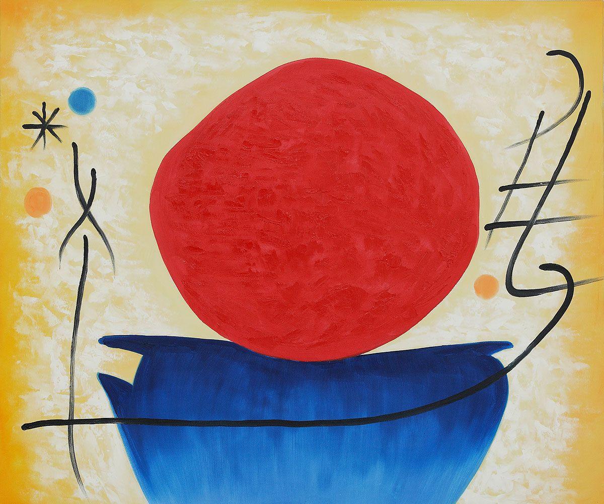 The Red Sun By Joan Miro Joan Miro Miro Artist Painting