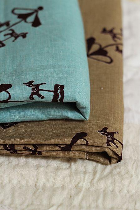 LINNET Printed Linen Merry-go-round